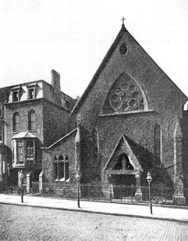 45th Street location (1870-1895) of the Church of St. Mary the Virgin - New York City