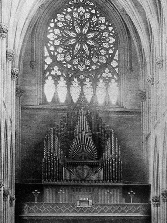 Jardine & Son Organ (1879) formerly in St. Patrick's Cathedral, New York City (from Jardine & Son catalog)