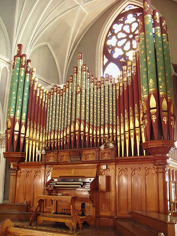 Geo. Jardine & Son organ, Op. 1246 (1897) at the German Evangelical Lutheran Church of St. Paul - New York City (photo: Steven E. Lawson)