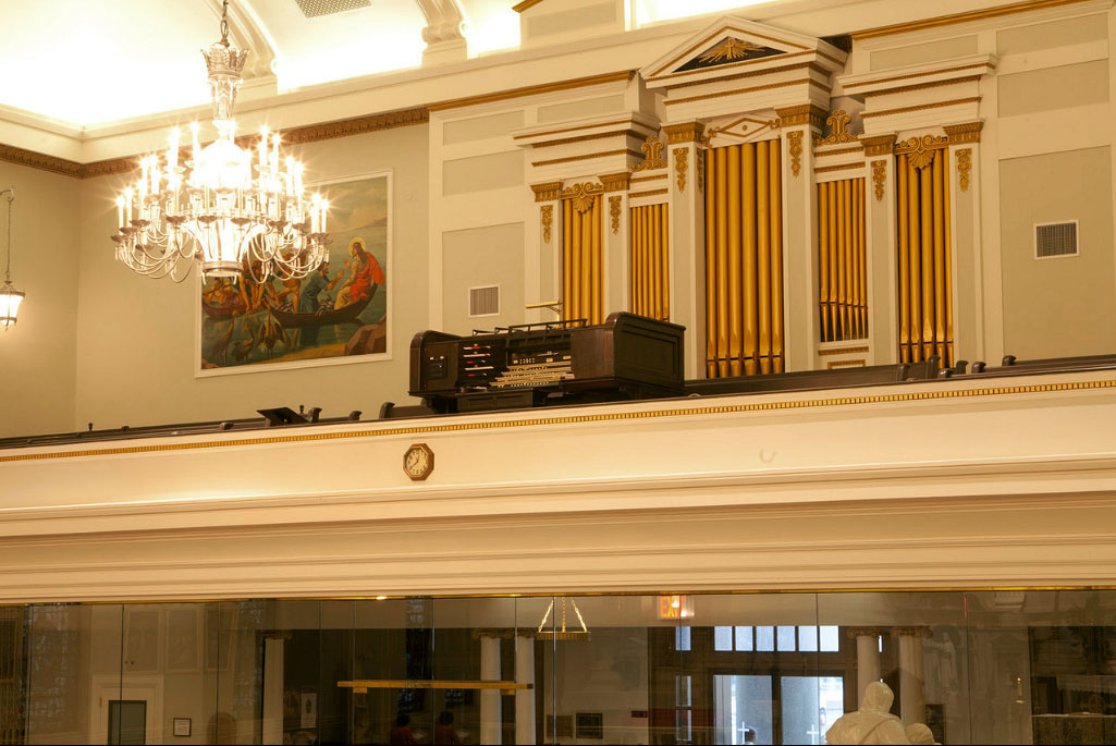 Geo. Kilgen & Son organ, Op. 4740 (1931) in St. Peter's Catholic Church - New York City (photo: Lisa Meloni Ragusa)