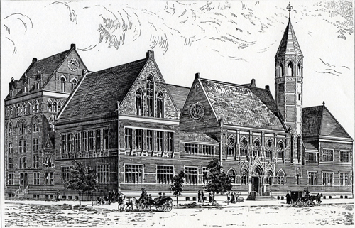 Second Building (1884-1910) of Union Theological Seminary - New York City
