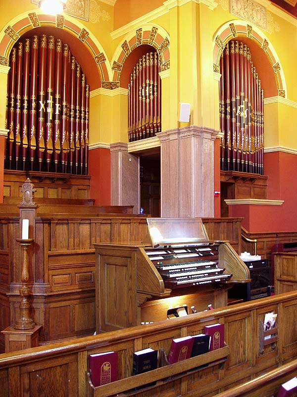 Austin Organ, Op. 2007A (1984) at West End Collegiate Church - New York City (photo: Steven E. Lawson)
