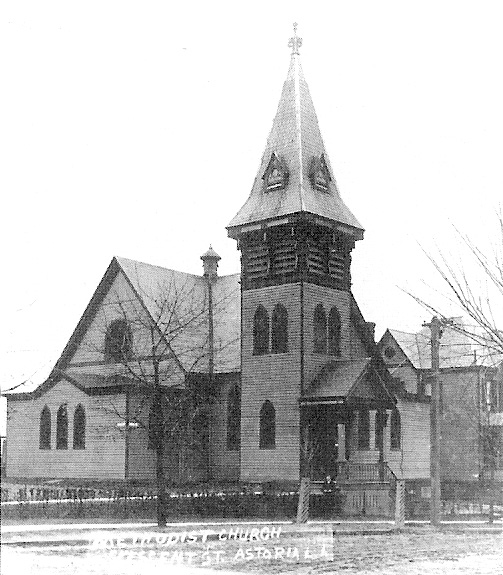 1886 building of the First Methodist Episcopal Church of Astoria (Queens), NY