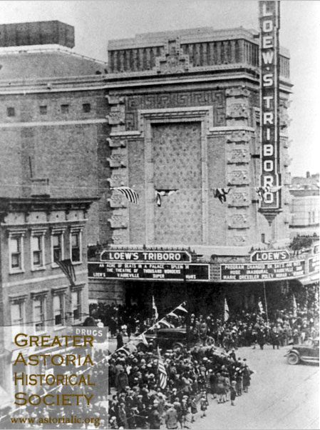Loew's Triboro Theatre - Astoria (Queens), N.Y. (Greater Astoria Historical Society)