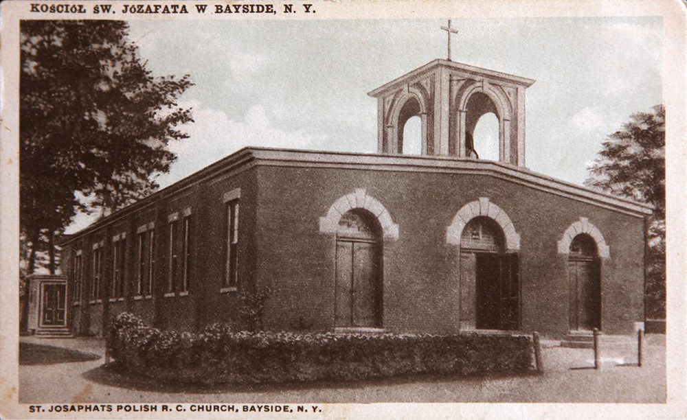 Undated postcard of Parish Hall, St. Josaphat Catholic Church - Bayside (Queens), N.Y.