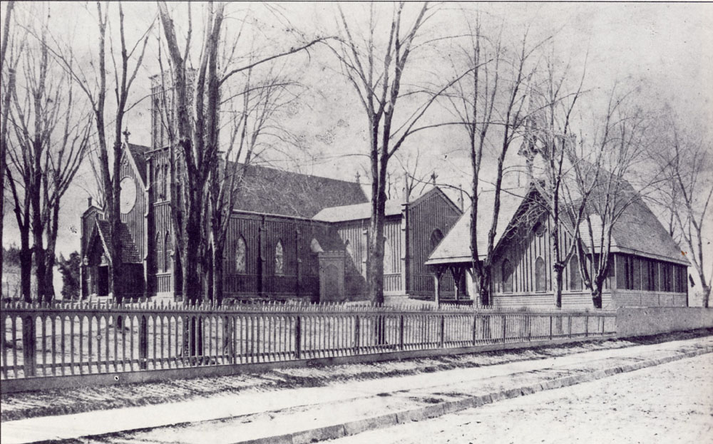 1871 photo of Old Christ Church New Brighton - Staten Island, NY (Episcopal Diocese of New York Archives)