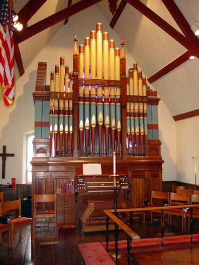 E. & G.G. Hook & Hastings organ, Op. 1192 (1883) in St. Alban Episcopal Church - Eltingville (Staten Island), NY